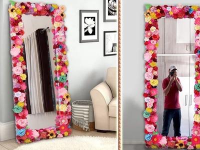 DIY Mirror Decoration || Paper Craft Idea || DIY Projects !!!
