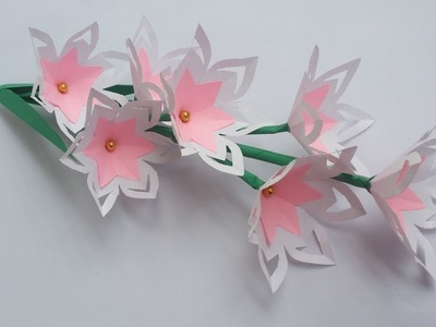 DIY: Paper Flower Stick!!! How to Make Beautiful Paper Flower Stick for Home.Room Decoration!!!