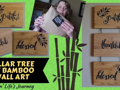 Dollar Tree DIY Bamboo Wall Art & Thread Tank Unboxing | Gift ideas
