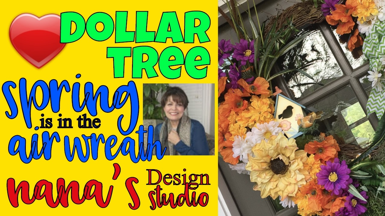 """????????????Dollar Tree """"Spring is in the Air"""" Wreath: Do-it-Yourself Dollar Tree Wreath for Spring Peeps!"""