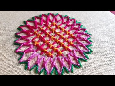 EMBROIDERY FOR BEGINNER.Hand Embroidery Fantasy Flower Stitch