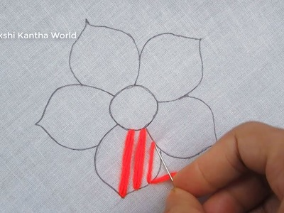 Hand Embroidery, Chekered Flower Stitch, Flower Embroidery