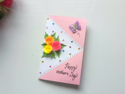 Handmade Mother's Day pop up card idea.Mother's Day card making idea.
