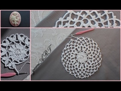 How to Crochet a Dream Catcher Doily very easy pattern