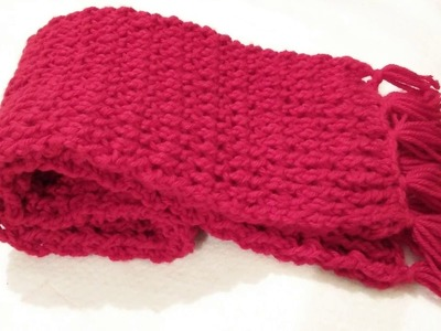 How to crochet a scarf super fast and easy pattern