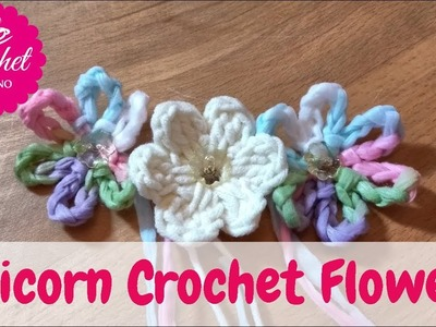 HOW TO CROCHET AN UNICORN  FLOWERS #1