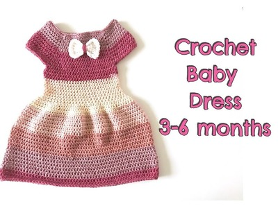 How to Crochet Simple Baby Dress (3-6 months)
