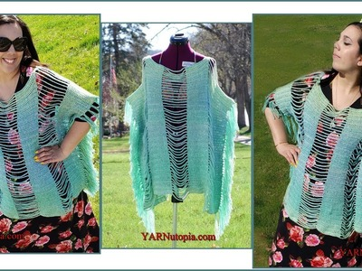 How to Crochet Tutorial: DIY Sand-n-Sea Beach Tunic by YARNutopia