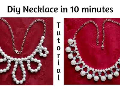 How to make a necklace in 10 minutes. Beading patterns for DIY necklace