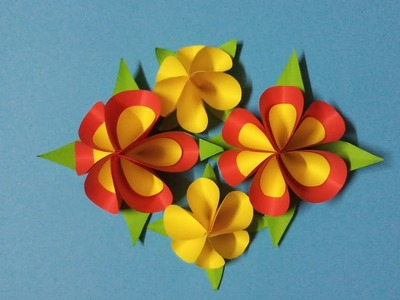 How to make beautiful Flower with Paper | Easy paper Flowers #2 | DIY Rom decorations