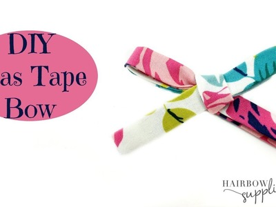 How to Make Bias Tape Hair Bows - No Sew Fabric Bow - Hairbow Supplies, Etc.