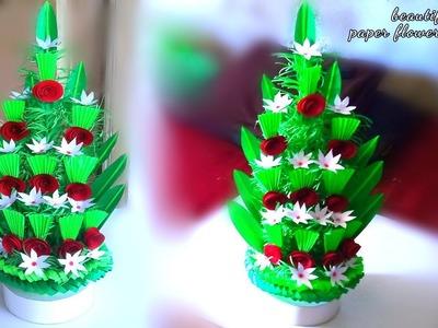 How to make flower bouquet with colour paper. floral design bouquet