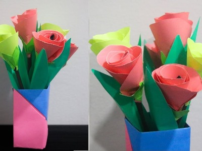 How To Make flower With Paper Very Easy || Paper Craft Flowers  || DIY