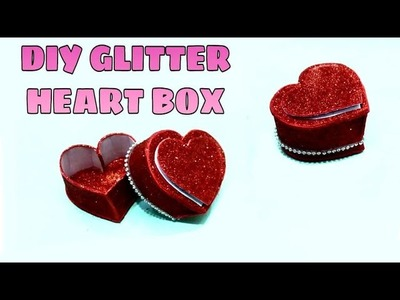 HOW TO MAKE GLITTER HEART BOX WITH IN EASY STYLE