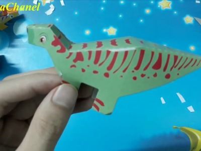 How to make paper crafts easy END, Dinosaur toys FOR KIDS 2019