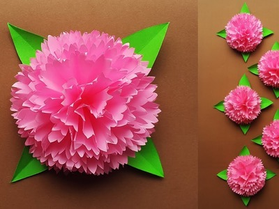 How to Make Paper Flowers Easy for Wall Decoration | DIY Home Decor Ideas