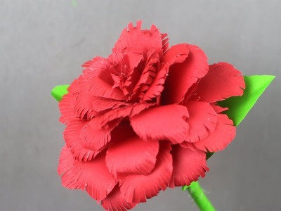 How to make rose flower with paper | Rose flower idea | Rose flower making step by step