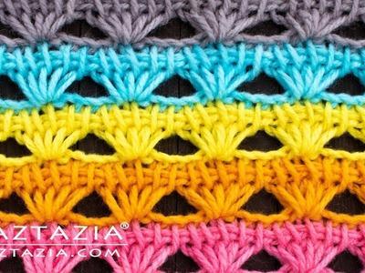 How to Tunisian Crochet a Shell Stitch Pattern by Naztazia
