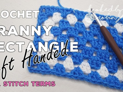 LEFT HANDED Easy Crochet Granny Rectangle | Motif or Blanket | How to Tutorial | Step by Step