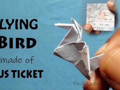Make Bird With a Bus Ticket| moving wing BIRD | SuryaOrigami