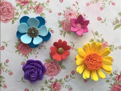 Mini foam flowers! Easy & quick decoration ideas for beginners!