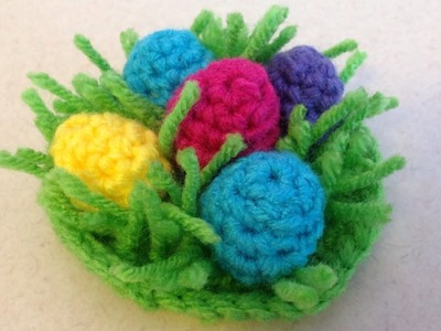 My Doll's Easter Frock - Part 2: Easter Eggs for Basket - Red Heart Yarn Pattern