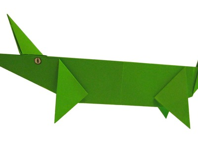Origami Crocodile Tutorial