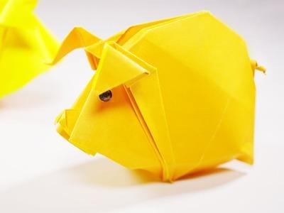 Origami Pig. Piggy (Hoàng Tiến Quyết) - Paper Crafts 1101