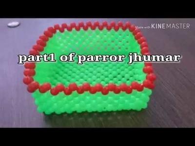 Parrot jhumar video part 1|Moti ki katori|DIY beads work tutorial|Artkala video