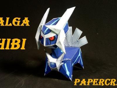 Pokemon Model : How To Make Diagal Chibi Kute Papercraft