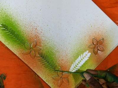 Project khata design.  border and corner design by spray painting.   Subrata Art.