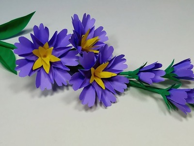 Stick Flower: Easy Way to Make DIY Paper Flower - Paper Craft Flower Idea - Jarine's Crafty Creation