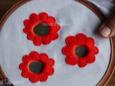 Stylish Mirror Work Stitch || Mirror work embroidery|| mirror work embroidery designs