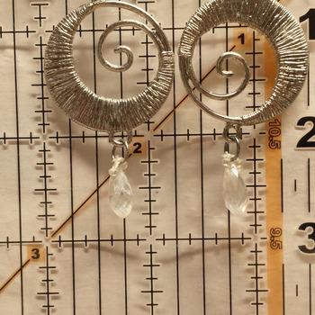 Swirl earrings  #213945