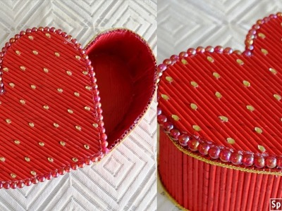 Valentine Heart Shaped Gift Box  | valentines day gift ideas | papercraft ideas | parul pawar