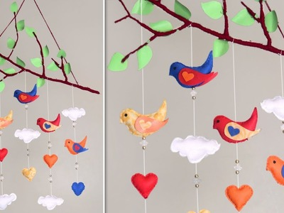 Wall Hanging Sparrow.  DIY Room Decor 2019 !!! Best Out Of Waste Idea