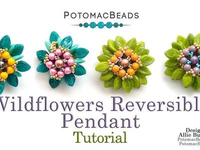 Wildflowers Reversible Pendant - Jewelry Making Tutorial by PotomacBeads