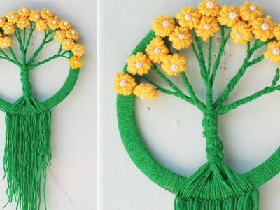 Woolen craft wall hanging - Simple way to do #2 - Woolen craft ideas