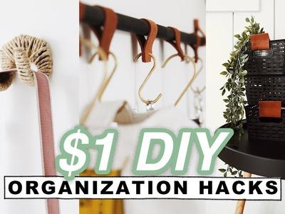 $1 DIY ORGANIZATION HACKS + ROOM DECOR (Dollar Store). Lone Fox