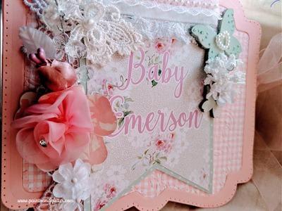 Baby Girl Mini Album featuring Tonic Studios Memory Book Maker Dies