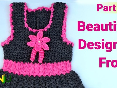 Beautiful designer frock for 2-3 years baby girl   Make flower in this frock - Part 3