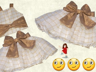 Convert Old Dupatta in to Designer Baby Skirt ( part -1 ). by simple cutting
