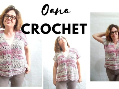 Crochet summer blouse very easy design by Oana