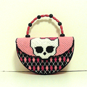 Cute Pink & Black Monster High Handbag/Purse