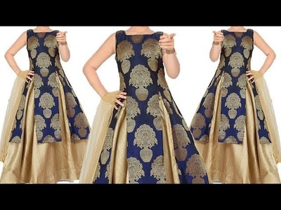 DIY Designer  Double Layer Brocade Kurti Full Tutorial