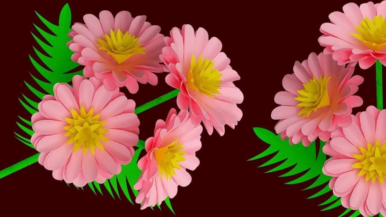 Diy Flower Stick | Stick Flower Easy Way to Make DIY Paper Flower | Paper Craft Flower Idea