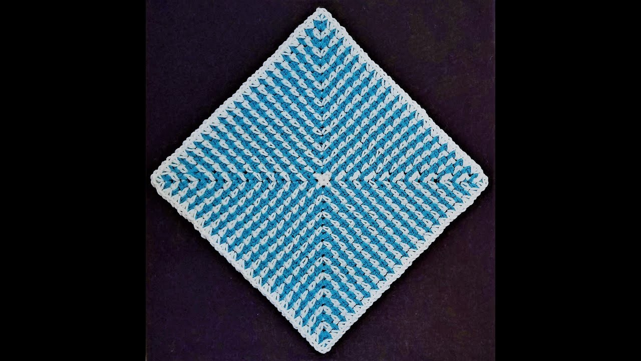 DIY -- HOW TO CROCHET: 00 Radiating Moss Stitch Square UPDATED || Cheryl Dee Crochet