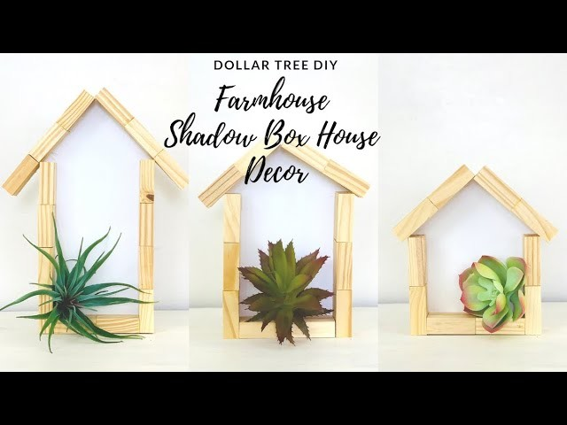 Dollar Tree Farmhouse DIY Home Decor|Succulent Summer Home Decor