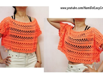 Easy Crochet for Summer: Crochet Poncho (beach poncho) #01