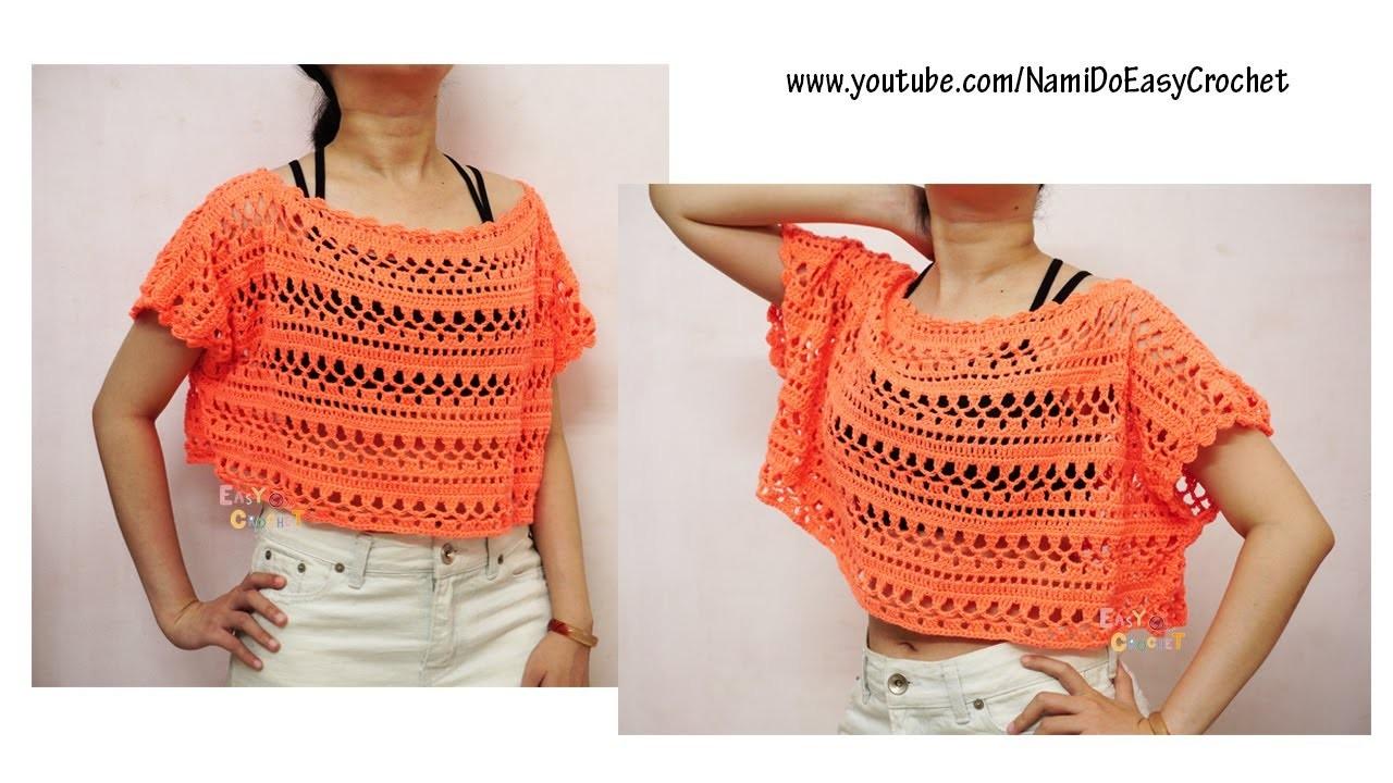 Easy Crochet for Summer: Crochet Poncho (beach poncho) #01